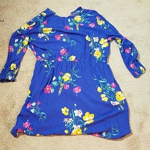 Old Navy Dresses - Old navy blue flowered print dress